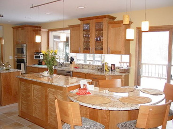 Best 13 Best Kitchen Islands With Attached Tables Images On 640 x 480