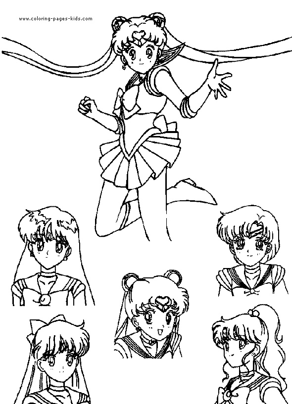 104 best images about sailor moon coloring pages on