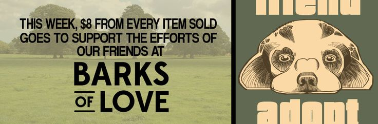 $8 from every item purchased will be donated to Barks of Love | FLOAT Apparel