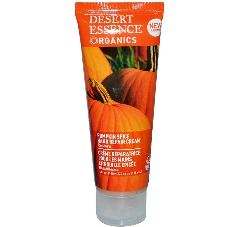 Desert Essence, Organics, Hand Repair Cream, Pumpkin Spice, 4 fl oz (118 ml)    the BEST HAND CREAM!!!: Essence Organizations, Pumpkin Spices, Cream Pumpkin, Organizations Hands, Pumpkin Repair, Essence Pumpkin, Desert Essence, Hands Repair, Repair Cream