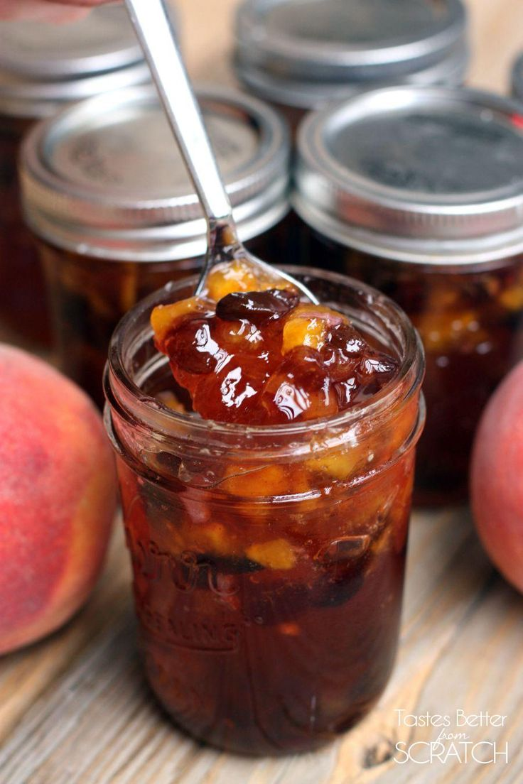 Homemade Peach Chutney recipe on TastesBetterFromScratch.com