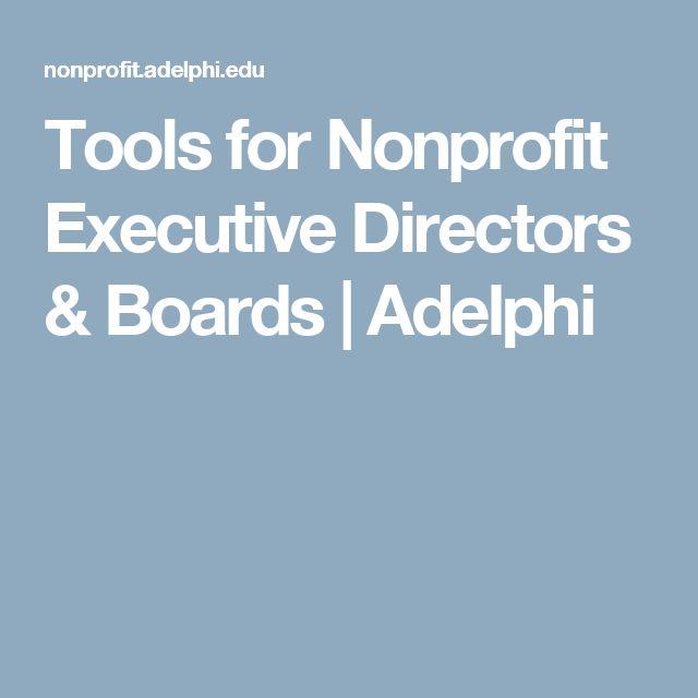 Tools for Nonprofit Executive Directors & Boards | Adelphi