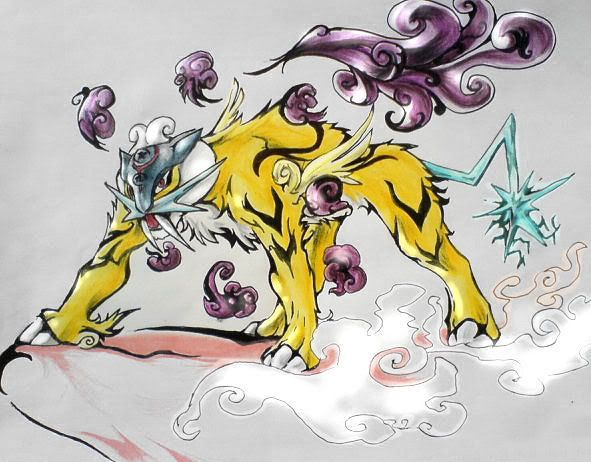 Always thought they were the legendary big cat pokemon with Raikou as the tiger