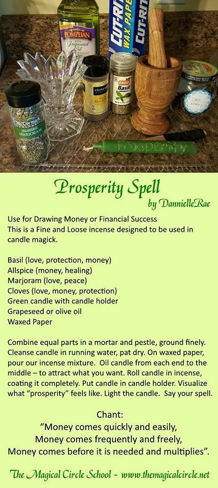 Prosperity Spell  - Pinned by The Mystic's Emporium on Etsy