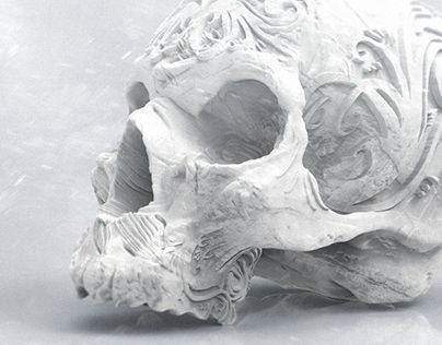 """Check out new work on my @Behance portfolio: """"Skull with ornament"""" http://be.net/gallery/40683191/Skull-with-ornament"""