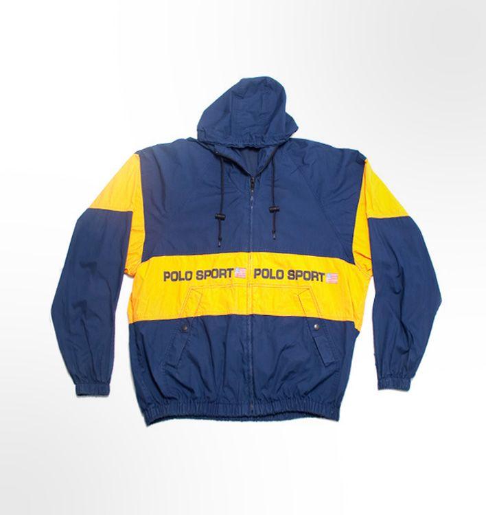 d2b5c550 Vintage Ralph Lauren Polo Sport rain jacket. Navy Yellow | NAVY | Polo  sport jacket, Polo Ralph Lauren, Polo sport ralph lauren