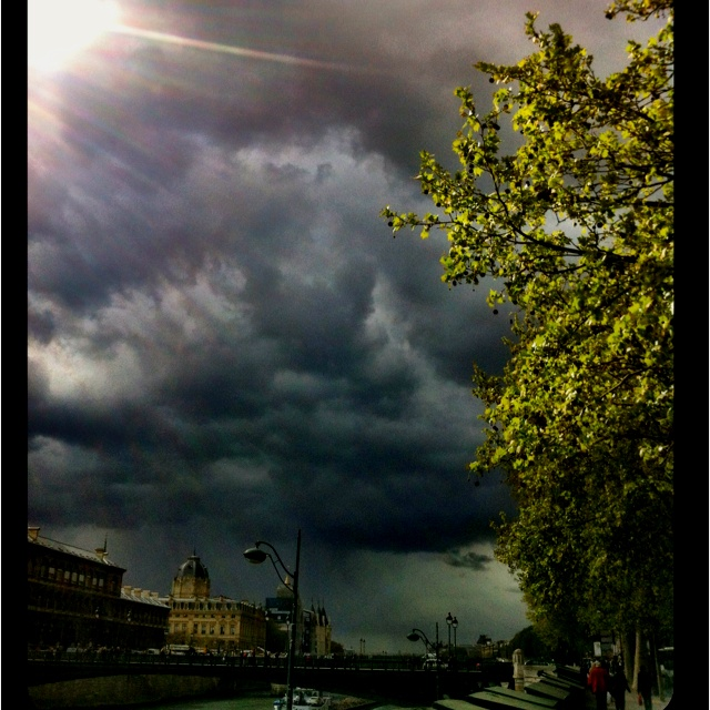 Storm brewing over the Seine.