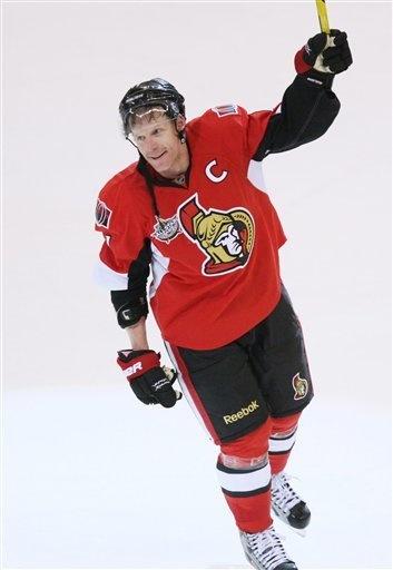Daniel Alfredsson of the Ottawa Senators