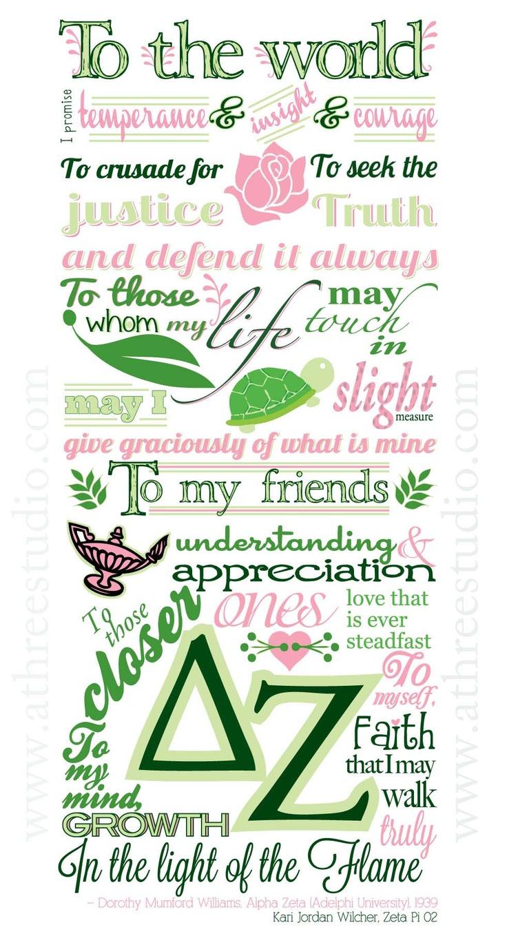 <3: Delta Zeta Creed, Creed Illustrations, Delta Zee, Dz Creed, Deltazeta, My Life, Delta Zeta Quotes, Delta Zeta Sorority, Zeta 3