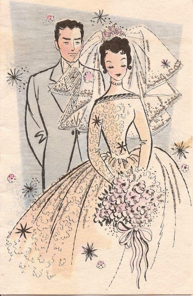Марта девочкам, с днем свадьбы ретро открытка
