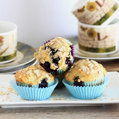 Blueberry Muffins made with Pure Via Stevia