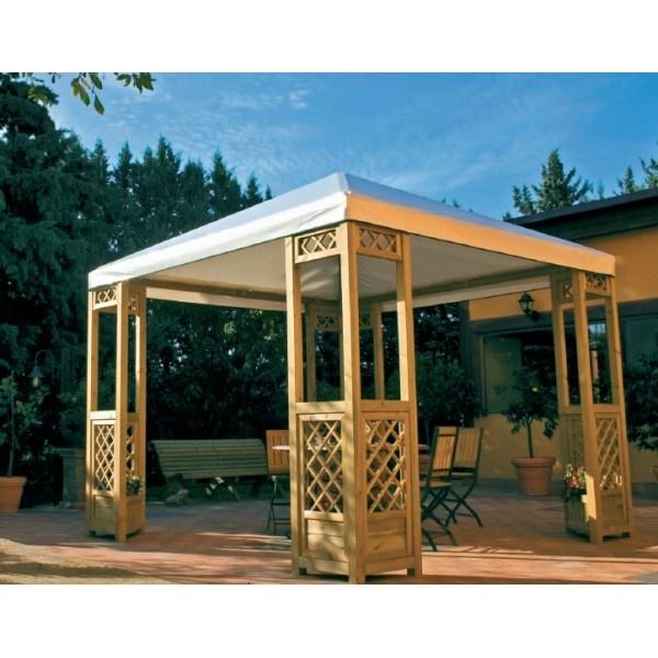 GAZEBO PATIO 3X3 CON GRIGLIE LATERALI  CODICE: ECO3X3  GAZEBO PATIO ECONOMY 3X3 CON GRIGLIE LATERALI E TELO IN PVC DA 650 Gr/M2  Struttura versatile e facile da montare.  Ideale da posizionare in giardino per creare un esclusivo spazio al'aria aperta.  Caratteristiche struttura:  -Moduli pre-assemblati  -Profilo 70x70 mm.  -Grigliati ad incastro 20x20 mm maglia 80 mm  -Copertura in PVC da 650 Gr/M2  Dimesnioni Gazebo: 314x314x h min 219/ h max 305  Gazebo fornito in kit di montaggio…