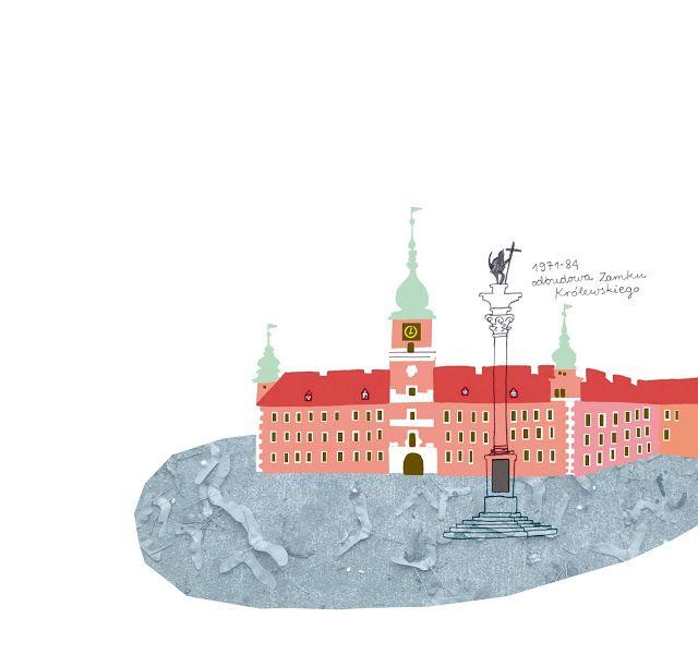 polska ilustracja dla dzieci: Nowość - Warszawa dla młodych podróżników
