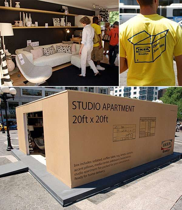 Pop-Up Roomvertising- no one could resist checking out the pop-up IKEA room in advance of a store opening