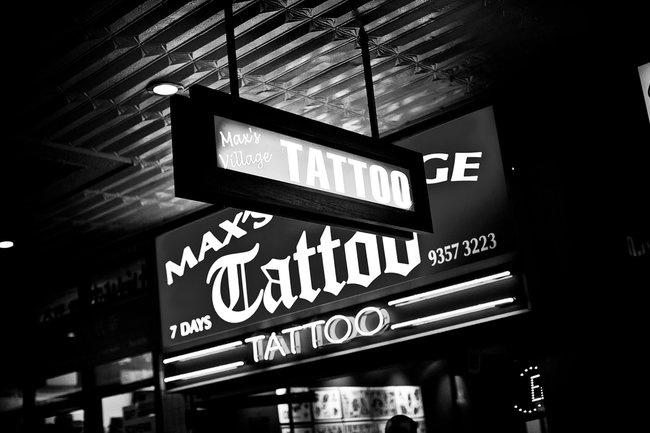 Max's Village Tattoo Studio, King's Cross, Sydney