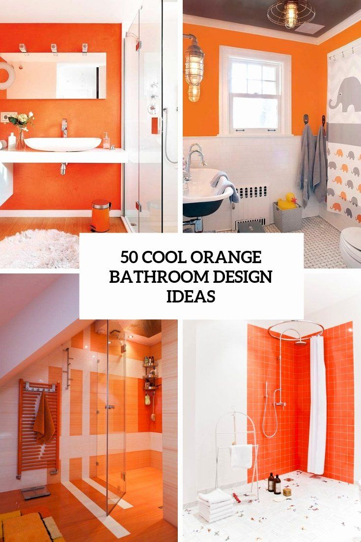 Burnt orange Bathroom Decor New 8 Cool orange Bathroom Design