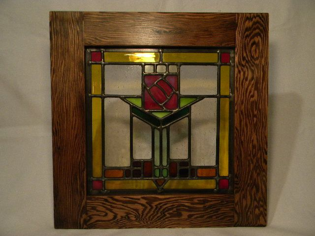 Craftsman Stained Glass Window. $140.00, Via Etsy. Decorative ...