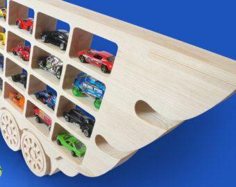 Hot Wheels Boys Wood Truck Display Case by RusticNickNacknStuff