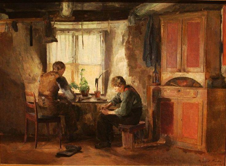 Backer, Harriet (1845-1932) - 1887 Country Cobblers (National Museum, Stockholm, Sweden)