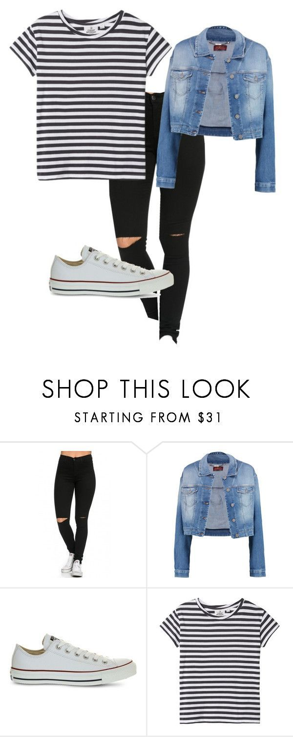 HIGH SCHOOL OUTFITS by all-about-fashion-13 on Polyvore featuring 7 For All Mankind, Converse and Cheap Monday