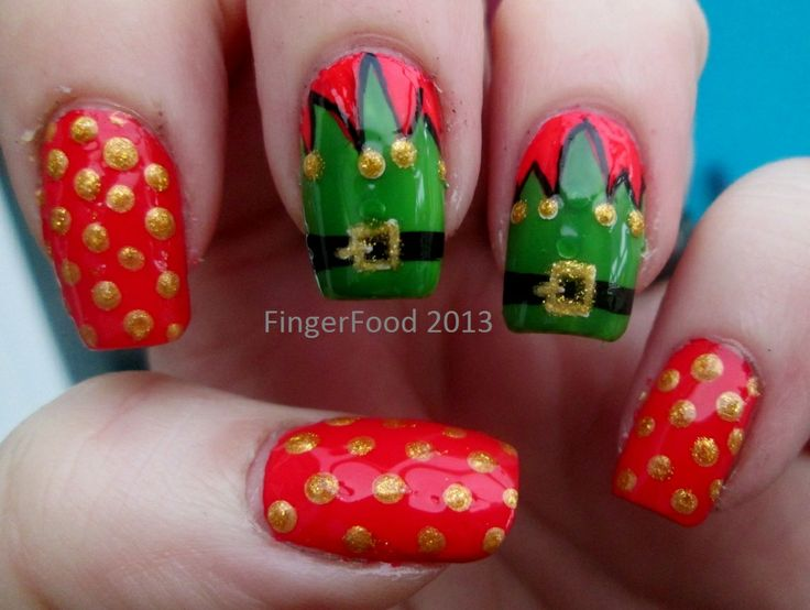 346 best Christmas Nails images on Pinterest | Christmas nails ...