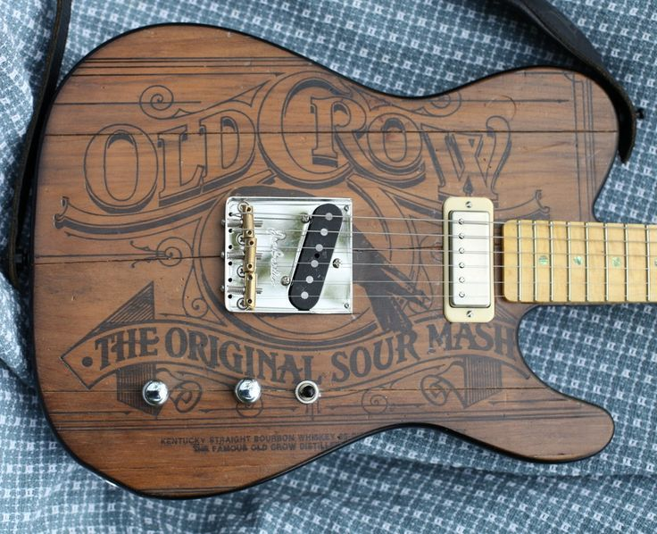 Body made from an old Whiskey Crate Telecaster Guitar