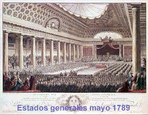 La reunión de los Estados Generales de 1789 que llevaría a la Revolución