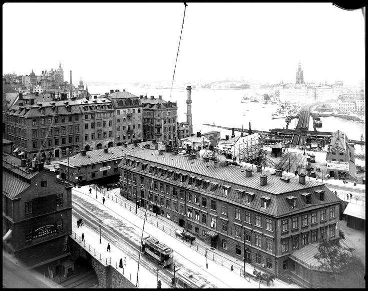 Utsikt från Katarinahissen 1901