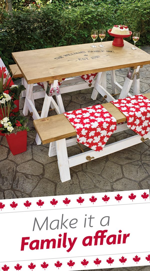 Get the party started in iconic Canadian style and let the celebrations begin!