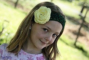 Make a fun Dread Head headband for your little girl. It's light and airy perfect for summer-wear while it can still hold hair back. The flower is a fun embellishment you can add if you choose. That pattern is not included with this free crochet pattern.
