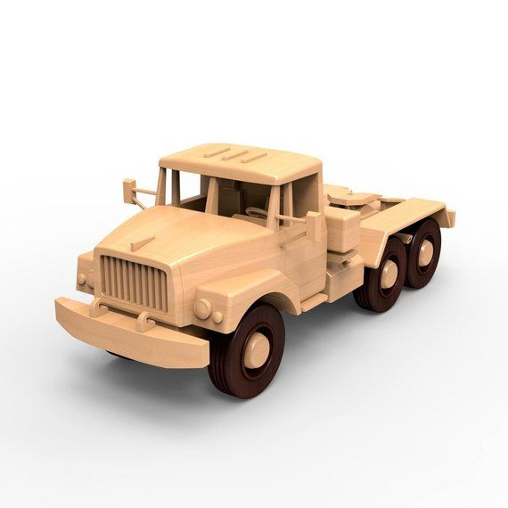 Russian ZIL-137, wooden truck model woodworking plans for DIY. PDF on