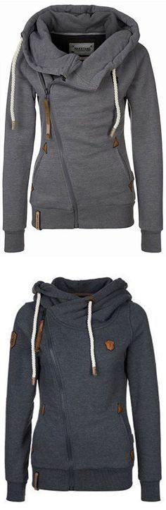 Keep your dream and go to have a look,this one fashion and warm is ready for you. The HOODED SIDE ZIPPER SWEATSHIRT features fleece lining and drawstring hooded design. US customers enjoy free shipping! You deserve it at FIREVOGUE.COM !