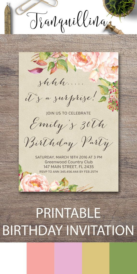 25 best Birthday Invitations by Tranquillina images on Pinterest ...