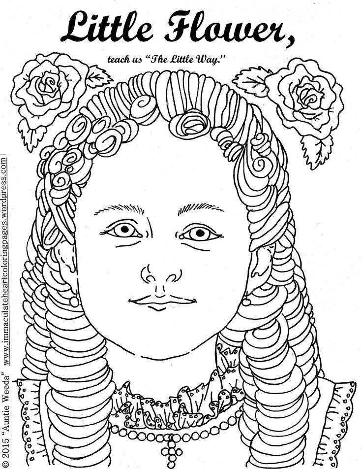 therese of lisieux coloring pages - photo#12