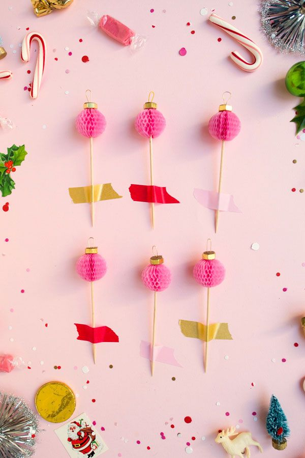 Honeycomb Ornament Cupcake Toppers DIY