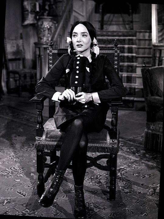 Carolyn Jones in The Addams Family.