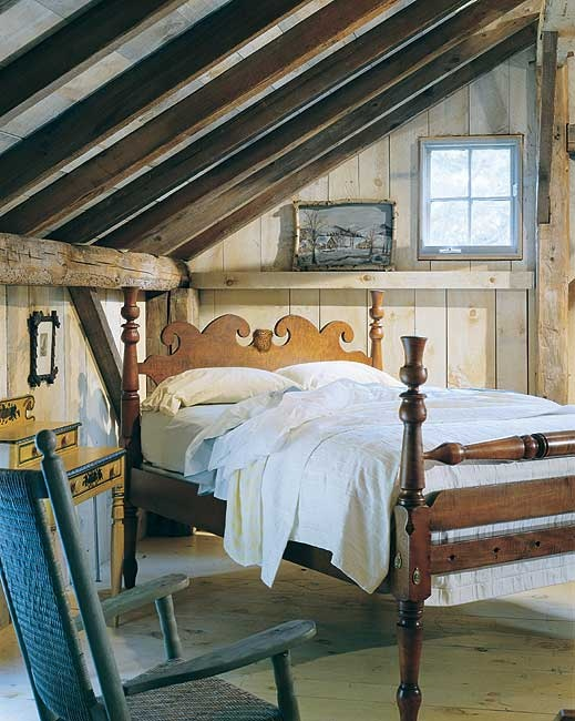 Reproduction Nantucket Thistle Lowpost Bed From Leonards