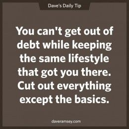 A basic tip to remain debt free. :)