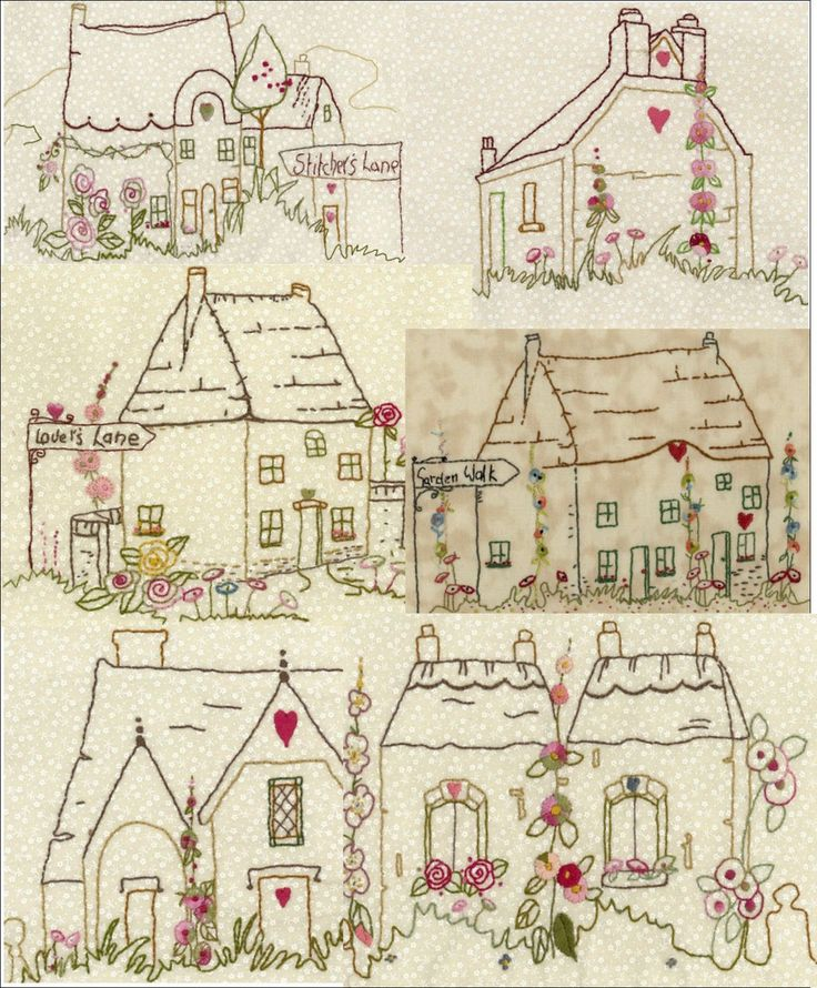 Village Square Collection Set 2 #brendaryan #iron-on-transfers #simple-stitchery