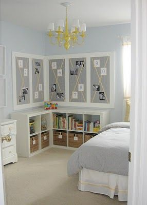 Craft room ideas...i love the bookshelves
