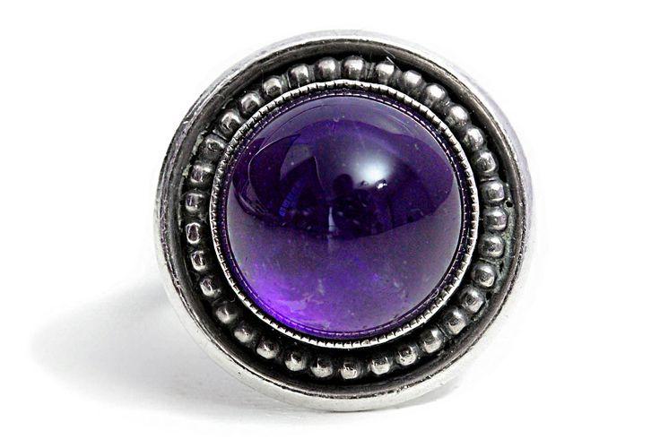 New to Tezsahcom on Etsy: Precious stones Jewelry Amethyst Silver Ring purple Cabochon Design semi precious stones engagement rings online shop (169.00 EUR)