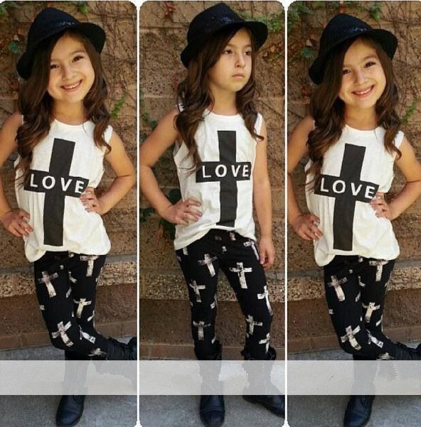 Aliexpress.com : Buy 2015 New arrival Girls clothing set suits t shirt + pants suit European style fashion street shoot cool children's clothes set from Reliable clothes for short fat women suppliers on Alice- Children's Clothing | Alibaba Group