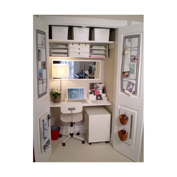 77 best Office space images on Pinterest Closet office Closet