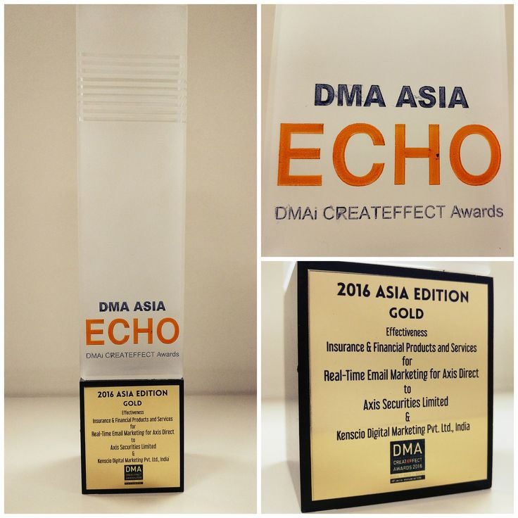 The 2016 DMA Asia ECHO Awards Gold won by Kenscio Digital. #AwardsForKenscio #GoldForKenscio #Kenscio #KenscioDigital