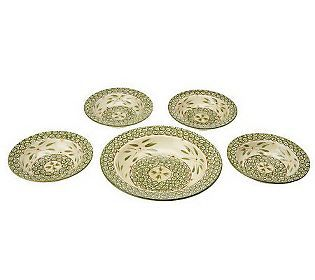 How excited am I, they finally made a Pasta set in my pattern! Temp-tations Old World 5-piece Pasta Bowl Set