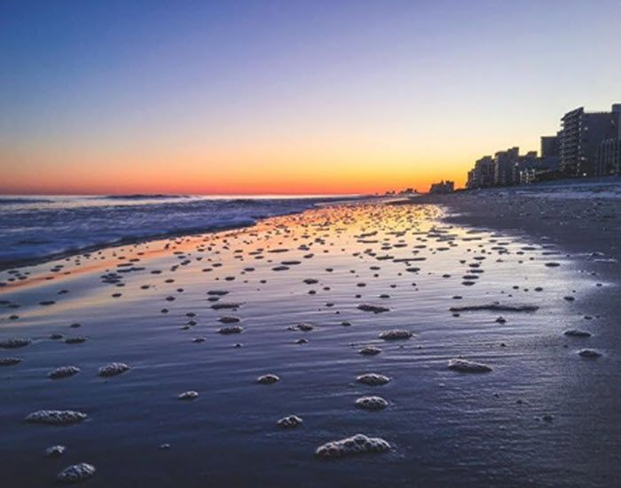 Oceanfront has great benefits! | Myrtle Beach Sunset | South Carolina | Photo via IG user @dustincjames | Click on the pin for the latest hotel deals and info about the Myrtle Beach area.