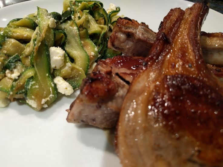 Barbecued lamb with Zucchini, mint and feta salad - World Food Tour
