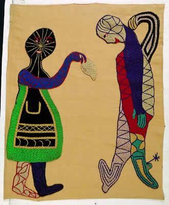 Cueca Arpilleras de Violeta Parra // Patchwork Art of Violeta Parra Cueca