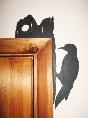 Woodpecker Door Topper   Rustic Crafts