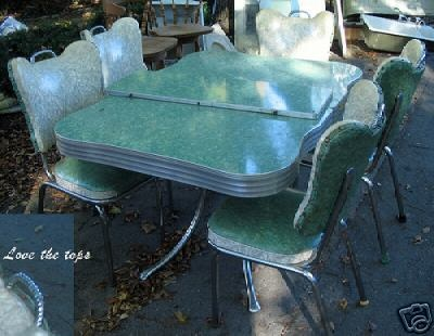 Chrome Dinette Chairs 216 best vintage kitchen tables images on pinterest | retro